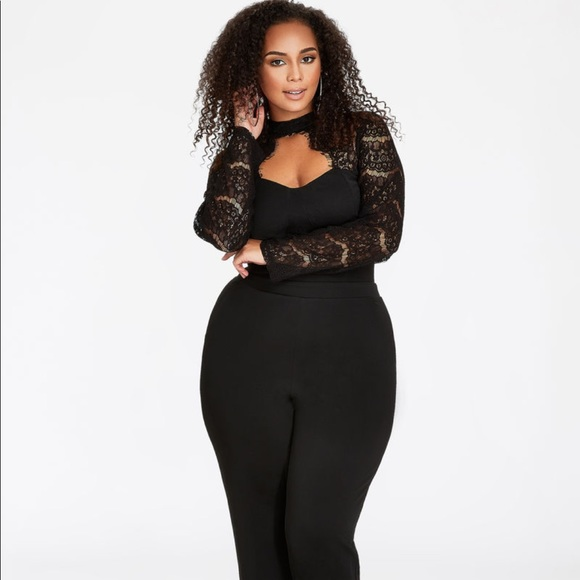 Ashley Stewart Other Plus Size Jumpsuit With Beautiful Lace Top